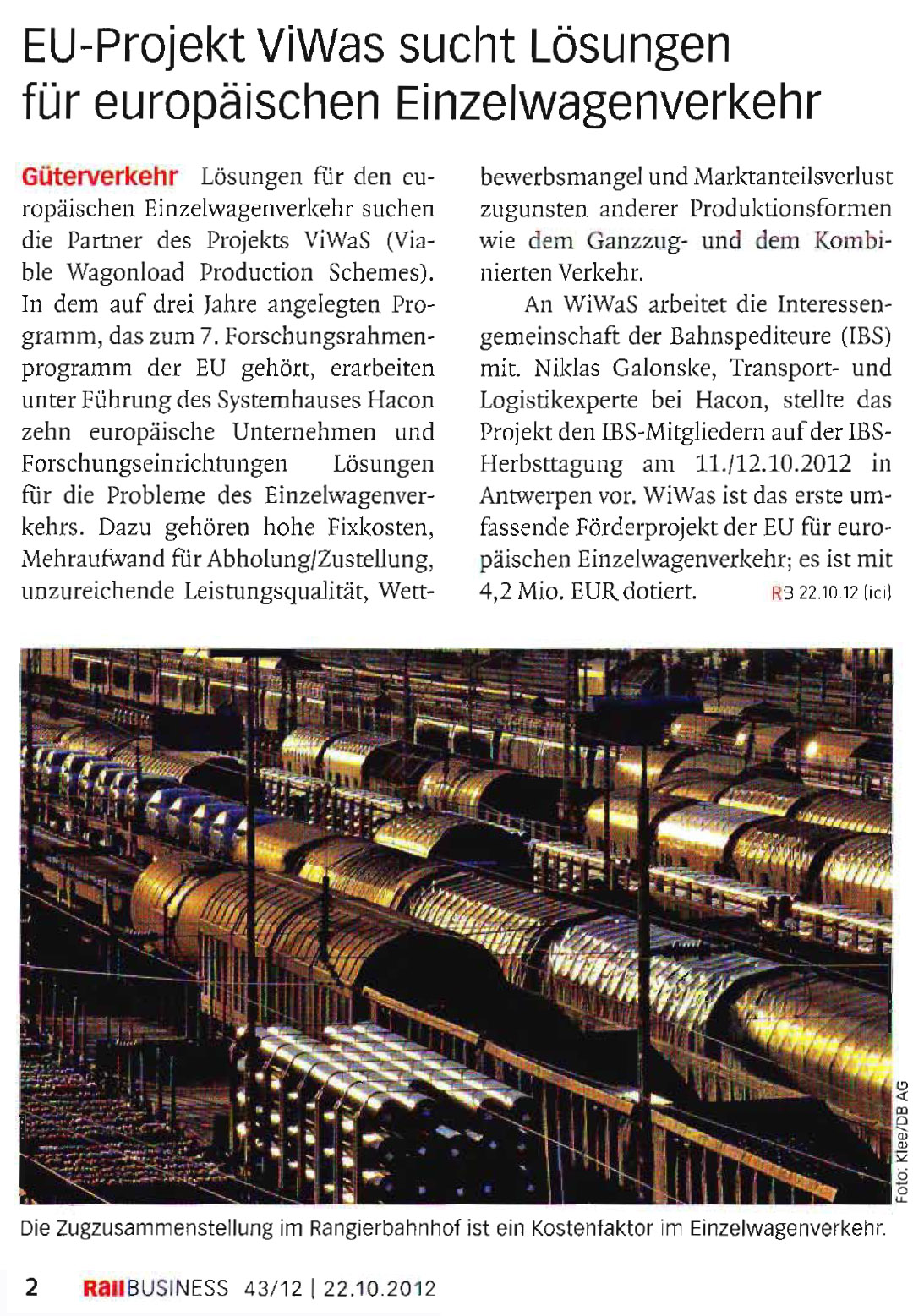 Source: Rail Business, Issue 43/2012, page 2