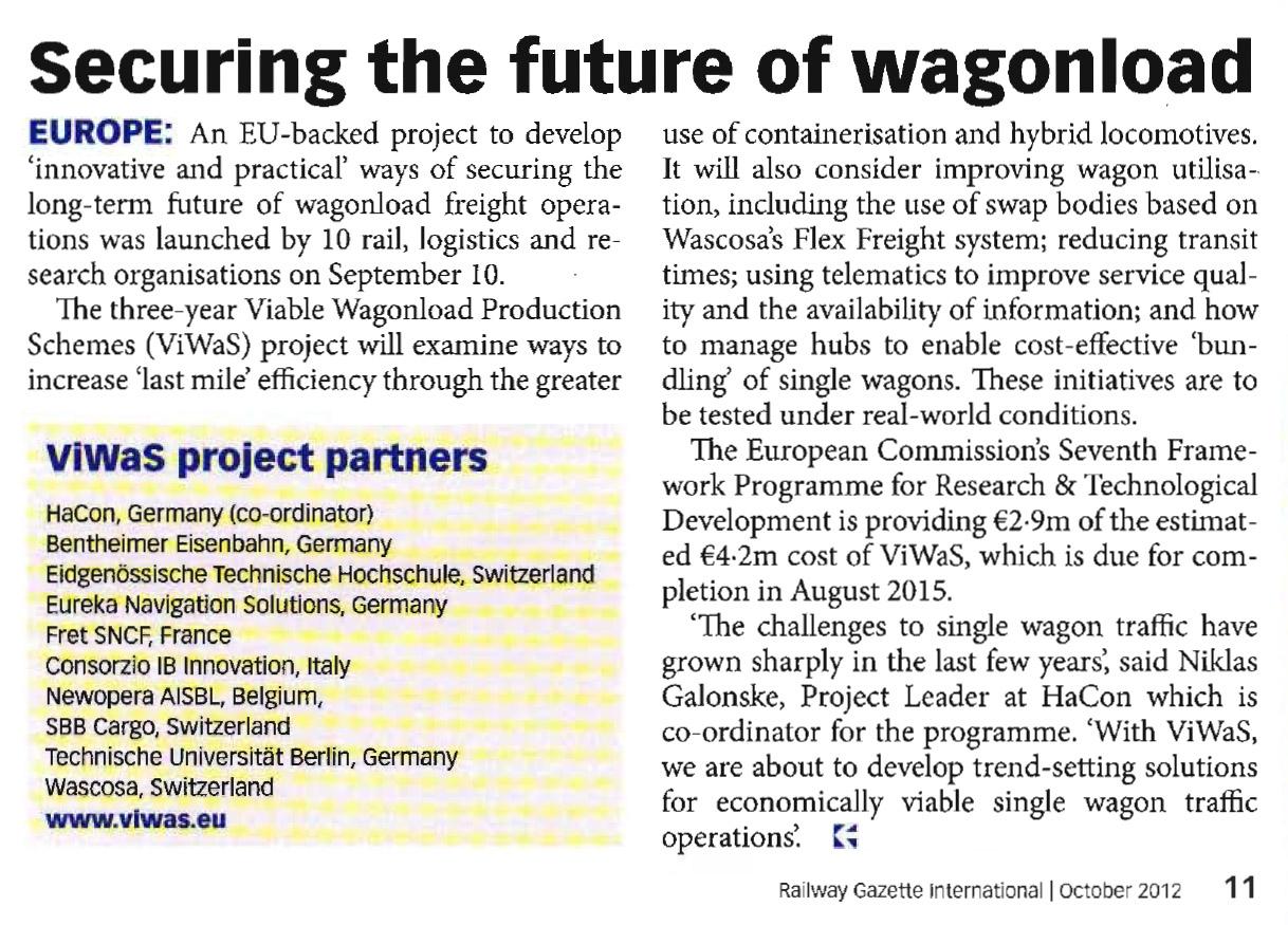 Source: Railway Gazette International, Issue October 2012, page 11